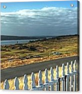 Picket Fence - Chambers Bay Golf Course Acrylic Print