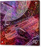 Pickin And A Grinnin Digital Banjo And Guitar Art By Steven Langston Acrylic Print by Steven Lebron Langston