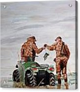 Picking Up The Decoys Acrylic Print