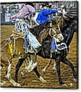 Pickup From The Bronc Acrylic Print