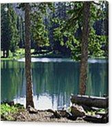 Picnic By The Lake Acrylic Print