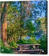Picnic By The Methow River Acrylic Print