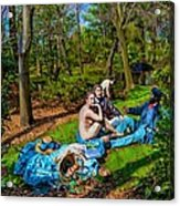 Picnic In The Nude Acrylic Print