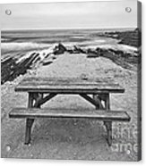 Picnic - Lone Table Overlooking The Ocean In Montana De Oro State Park In Caliornia Acrylic Print