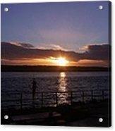 Picnic Sunset Vancouver Island Acrylic Print