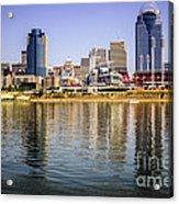 Picture Of Cincinnati Skyline And Ohio River Acrylic Print