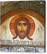 Picture Of Jesus Inside The Tsminda Sameba Cathedral Tbilisi Acrylic Print by Robert Preston