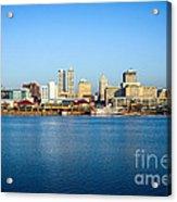 Picture Of Peoria Illinois Skyline Acrylic Print by Paul Velgos