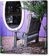 Picture Perfect Garden Bench Acrylic Print