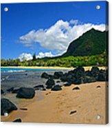 Picture Perfect Haena Beach Acrylic Print
