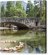 Picturesque Bridge In Yosemite Valley Acrylic Print