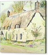 Picturesque Dunster Cottage Acrylic Print