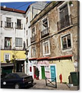 Picturesque Houses In Lisbon Acrylic Print