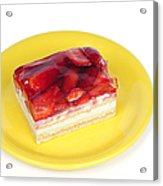 Piece Of Strawberry Cake Acrylic Print