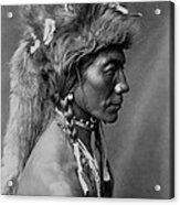 Piegan Indian Circa 1910 Acrylic Print