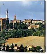 Pienza A Hill Town In Tuscany Acrylic Print