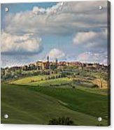Pienza In The Afternoon Panorama Acrylic Print