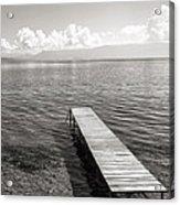 Pier At Lake Ohrid Acrylic Print