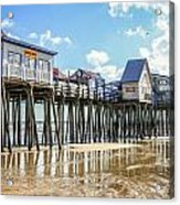Pier At Low Tide Acrylic Print