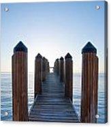Pier By Sea Acrylic Print