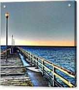 Pier - Chesapeake Bay Bridge #1 Acrylic Print