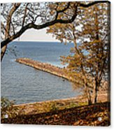Pier In The Fall Acrylic Print