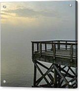 Pier In The Fog Acrylic Print