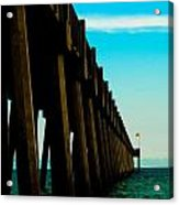 Pier Into The Horizon Acrylic Print
