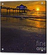 Pier Into The Sun Acrylic Print