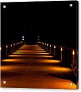Pier Night Lights Acrylic Print