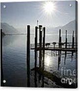 Pier On An Alpine Lake Acrylic Print