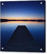 Pier On The Lake Acrylic Print