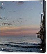 Pier Panorama At Sunrise  Acrylic Print by Michael Thomas