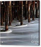 Pier Pilings Santa Cruz California 2 Acrylic Print