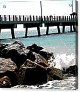 Pier Poster Acrylic Print by Sharon McLain