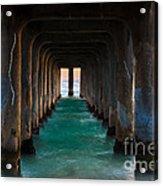 Pier Pylons Acrylic Print