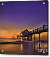 Pier Reflections Acrylic Print