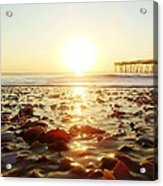 Pier Shells And Sunrise 15 10/2 Acrylic Print