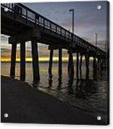 Pier Sunrise On A Cold January Morning Acrylic Print