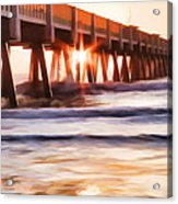 Pier Sunrise Too Acrylic Print