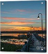 Pier Sunset Acrylic Print