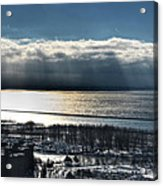 Piercing Cold Rays Upon The Waters Winter 2013 Acrylic Print