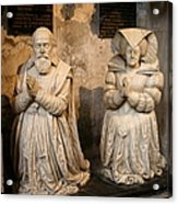 Pierre Jeannin And His Wife Sculpture Cathedral Autun Acrylic Print