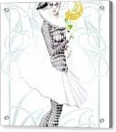 Pierrette In Love Acrylic Print