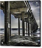 Piers At La Jolla California. Acrylic Print