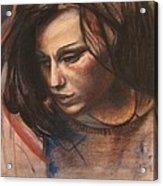 Pietro Annigoni-study Of Eva Acrylic Print by Svetlana Rudakovskaya