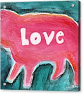Pig Love Acrylic Print