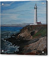 Pigeon Lighthouse Daytime Titrad Acrylic Print