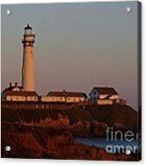 Pigeon Point Lighthouse At Sunset Acrylic Print