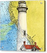 Pigeon Pt Lighthouse Ca Nautical Chart Map Art Acrylic Print